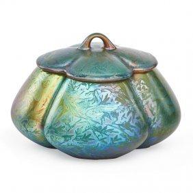 Jacques Sicard; Weller Lidded Vase