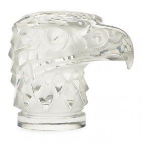 """Lalique """"tête D'aigle"""" Hood Ornament"""