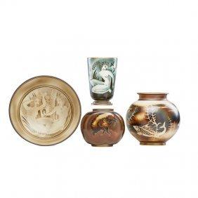 Gunnar Nylund; Alp Four Vases/bowls