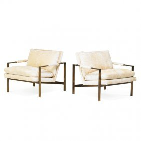 Milo Baughman; Thayer Coggin Pair Of Lounge Chairs