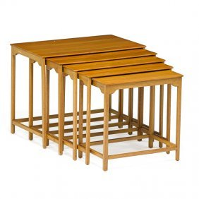 Edward Wormley; Dunbar Five Nesting Tables