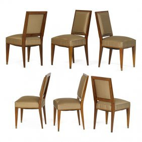 Jacques Quinet Six Dining Chairs