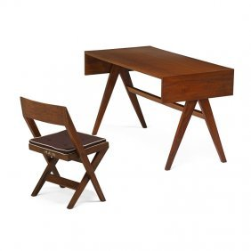Pierre Jeanneret Chandigarh Student Desk And Chair