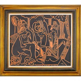Pablo Picasso; Madoura Fine And Large Plaque
