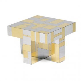Paul Evans; Directional Cityscape Side Table