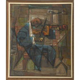 Frederic Weinberg Painting Of A Cellist