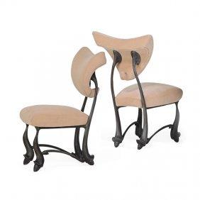 Jordan Mozer Two Iridium Ballet Chairs