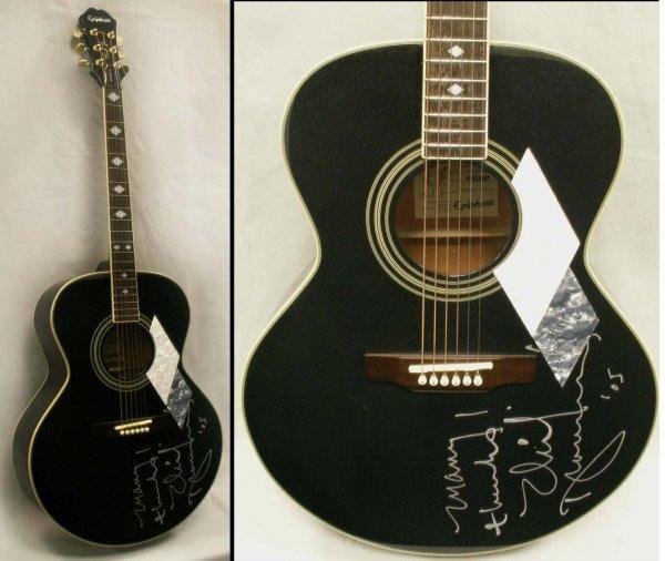 10 neil diamond autographed epiphone guitar lot 10 for Guitar domont