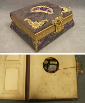VICTORIAN PHOTO ALBUM/MUSIC BOX