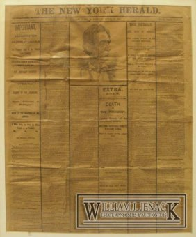 NEWSPAPER ACCOUNTING THE ASSASSINATION OF LINCOLN