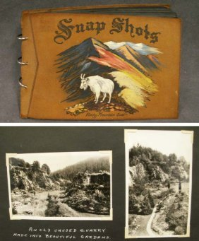 VINTAGE PHOTOGRAPH ALBUM, VACATION 1936 B.C.