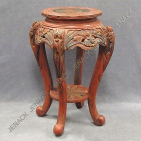JAPANESE CARVED AND LACQUERED STAND