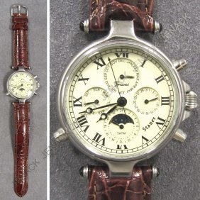 "STAUER STAINLESS ""GRAVES"" CHRONOGRAPH"