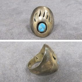 SOUTHWEST AMERICAN INDIAN STERLING RING