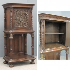 RENAISSANCE REVIVAL STYLE CARVED COURT CUPBOARD