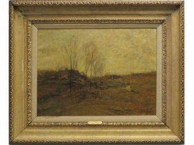 John Francis Murphy (american 1853-1921) Oil On Canvas,
