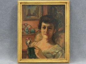 American School (20th Century) Oil On Academy Board,