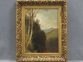 William M. Hart (american 1823-1894) Oil On Canvas