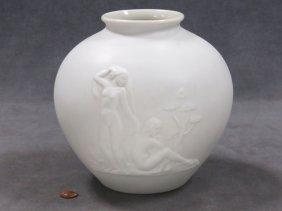Rosenthal Classical Design Bisque Porcelain Vase,