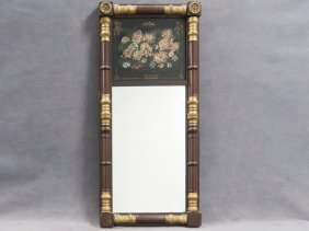 Federal Carved And Parcle Gilt Framed Mirror With