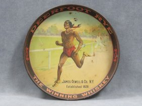 Vintage Deer Foot Rye Beer Tray, James Olwell & Co. Ny.