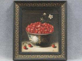 Dutch School (19th Century), Oil On Panel, Delft Bowl