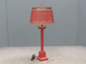 Toleware Column-form Table Lamp. Height 32""