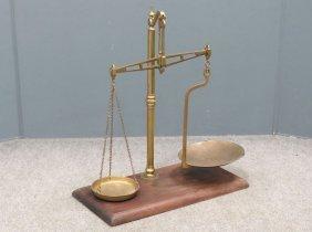 Waverly Birmingham Brass Balance Scale, 19th Century.