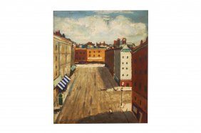French School (20th Century), Oil On Masonite,