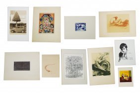 Lot (10) Assorted Lithograph And Serigraphs Including