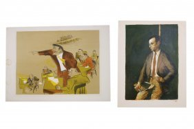 Lot (2) Lithographs Including William Gropper (american