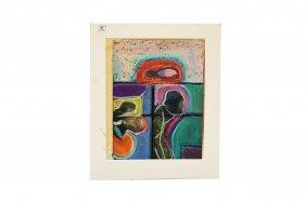 Uri Stettner (israel 1935-1999), Pastel On Paper,