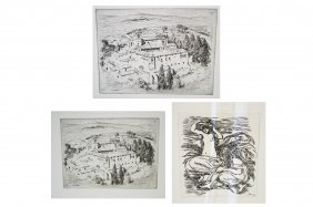 Lot (3) Etchings Including After Pierre August Renoir