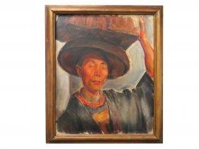Kenneth Lynch (american 20th Century), Oil On Canvas,