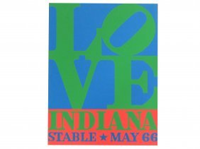"Robert Indiana, Serigraph Exhibition Poster, ""love"","