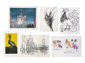 Lot (6) Lithographs And Serigraphs Including John