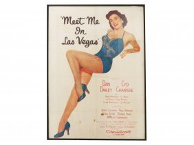"Original Movie Poster, ""meet Me In Las Vegas"" 1956."