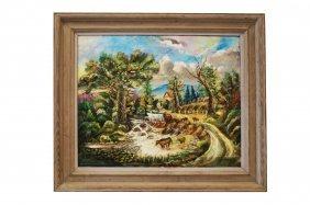 Polish School (20th Century) Oil On Canvas, Landscape