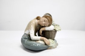 "Lladro Porcelain Figure, ""little Green-grocer"", #1087."
