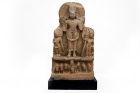 Indian (gupta) Carved Sandstone Stele, 4-6th Century Ad