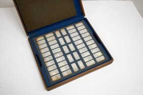 Franklin Mint U.s. State Sterling Silver Ingots In