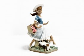 "Lladro Porcelain Figure, ""mirth In The Country"", #4920."