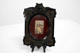 "Fine Gutta Percha Frame, 19th Century. Height 10 3/4"";"