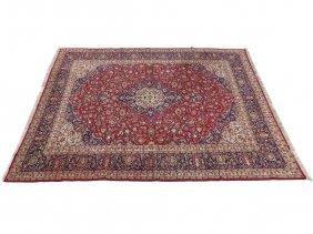 "Semi-antique Hand Made Central Persian Carpet. 13'6"" X"