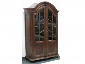 French Provincial Carved Oak Bookcase/cabinet, 19th