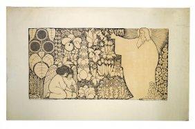 Ida Bohatta (austrian 1900-1992), Woodcut, Children In