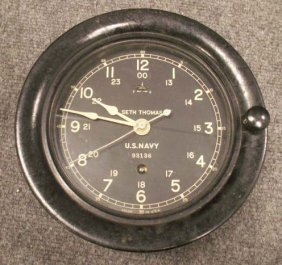 77 Seth Thomas Bakelite U S Navy Ship S Clock Lot 77