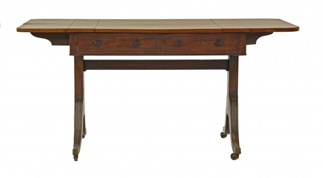 A Regency mahogany sofa table with an unusual hinged  : 271910281l from liveauctioneers.com size 650 x 359 jpeg 14kB