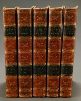 WORKS OF ROBERT BURNS, 5 Vols. 1806-1808.