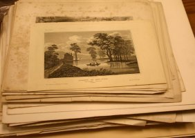 ~189 Lithographs & Engravings: Landscape, Archit.